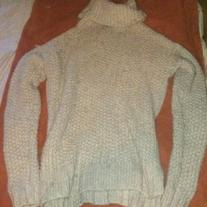 A&f knitted long turtleneck sweater sz xs